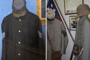Civil War Uniforms Displays